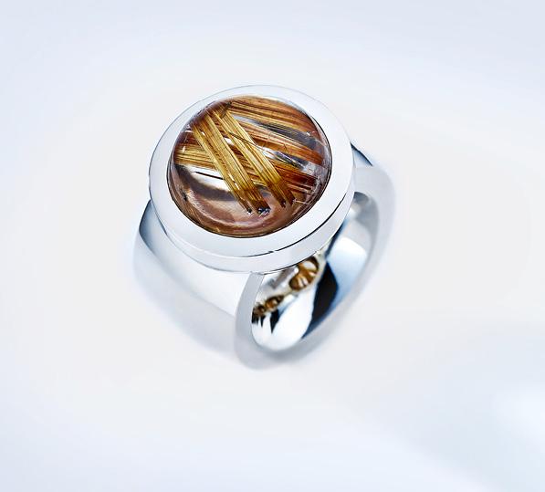 Ring 925/Silber mit Rutilquarz