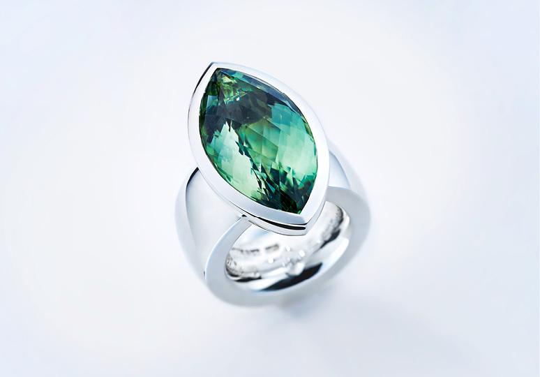 Ring 9257Silber mit Prasiolith